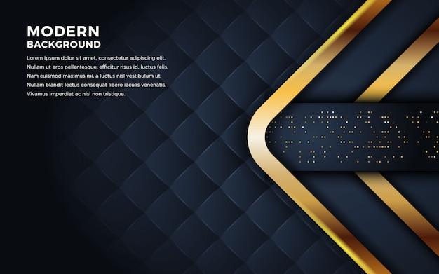 Fundo escuro luxuoso com combinação de linhas douradas.