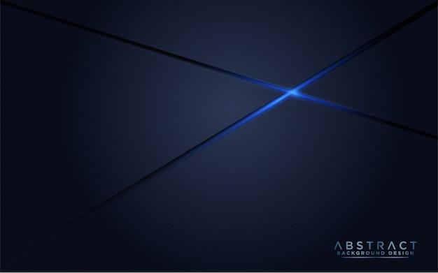 Fundo escuro moderno da marinha com luz azul