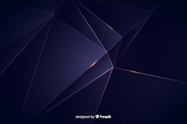 Fundo escuro poligonal de luxo