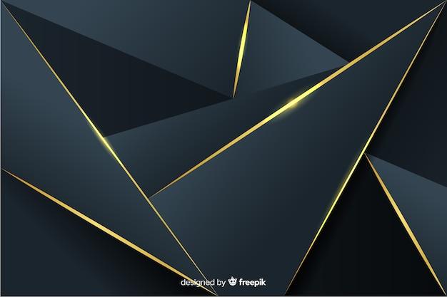 Fundo escuro poligonal