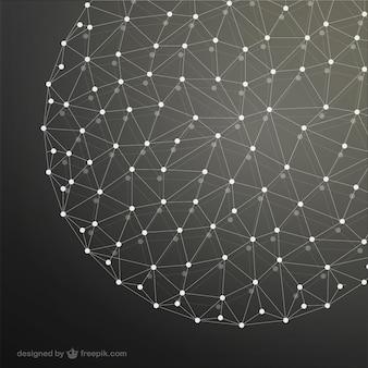 Fundo esfera rede