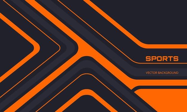 Fundo esporte preto e laranja com formas abstratas
