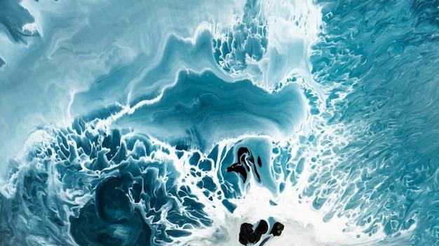 Fundo estampado com aquarela grunge azul abstrato