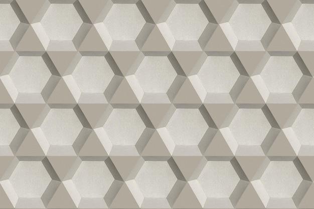 Fundo estampado de papel artesanal hexagonal cinza