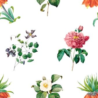 Fundo estampado floral