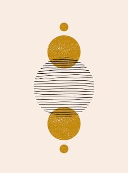 Fundo estético abstrato moderno com formas e linhas de equilíbrio geométrico
