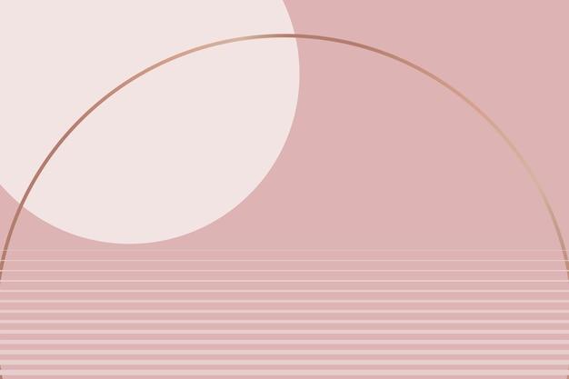 Fundo estético rosa nu vetor estilo geométrico mínimo
