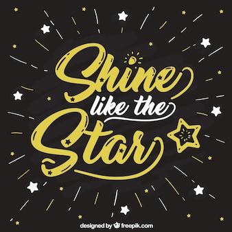 Fundo estrela criativa com letras