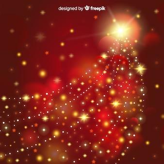 Fundo estrela de guiamento de natal
