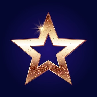 Fundo estrela dourada