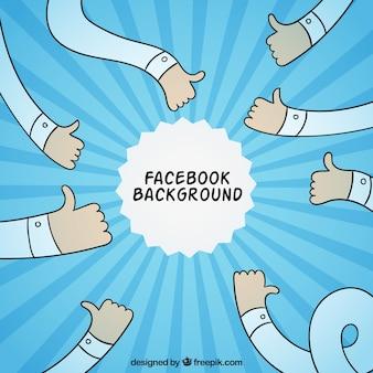 Fundo facebook com mão desenhada braços