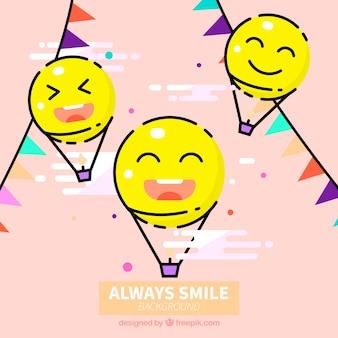 Fundo fantástico com smileys