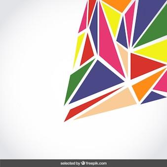 Fundo feito com polígonos coloridos