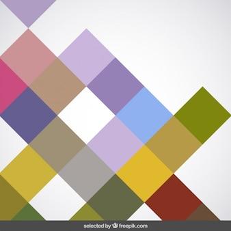 Fundo feito com quadrados coloridos
