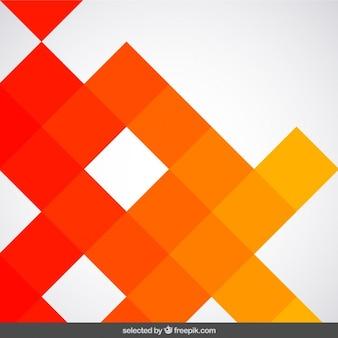 Fundo feito com quadrados laranja