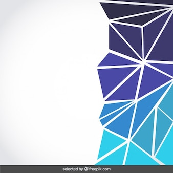 Fundo feito com triângulos azuis