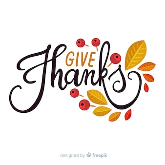 Fundo feliz ação de graças com letras e folhas