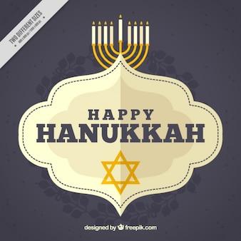 Fundo feliz de hanukkah com estrela e candelabros