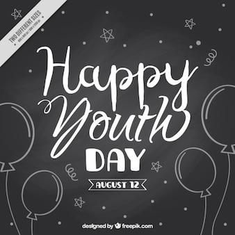 Fundo feliz dia dos jovens em vigor negro