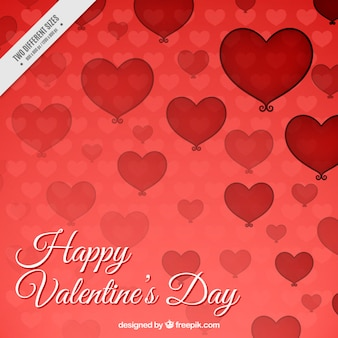 Fundo feliz dia dos namorados com corações vermelhos