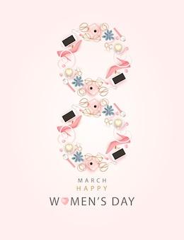 Fundo feliz dia internacional da mulher