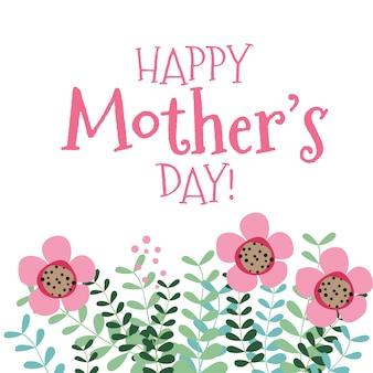 Fundo feliz do dia de mãe com flores