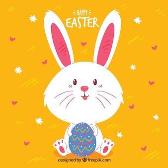 Fundo feliz do dia de páscoa com coelho fofo