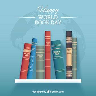 Fundo feliz do dia do livro mundial