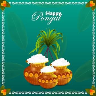 Fundo feliz do festival pongal do sul da índia