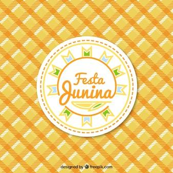 Fundo festa junina com uma toalha de mesa
