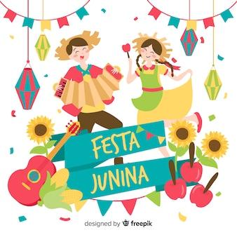 Fundo festa junina