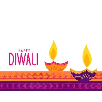 Fundo festival étnico de diwali