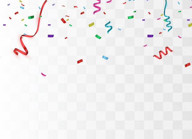 Fundo festivo colorido brilhante confete