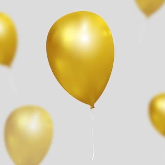 Fundo festivo com balões de ouro