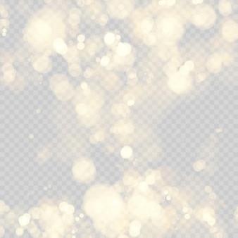 Fundo festivo com luzes desfocadas. efeito de círculos de bokeh.
