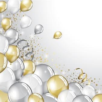 Fundo festivo de balões