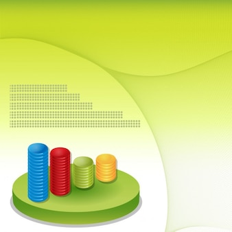 Fundo financeiro gráficos