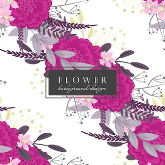 Fundo flor quente rosa flores sem costura padrão