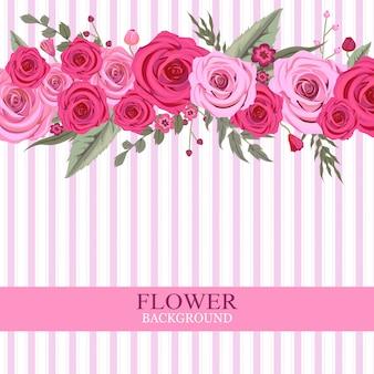 Fundo flor rosa