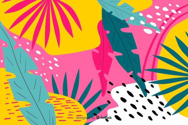 Fundo floral abstrato colorido