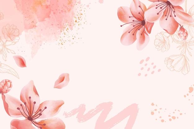 Fundo floral abstrato em aquarela