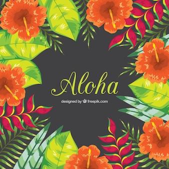 Fundo floral aloha