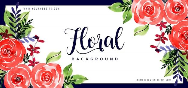 Fundo floral aquarela bonito