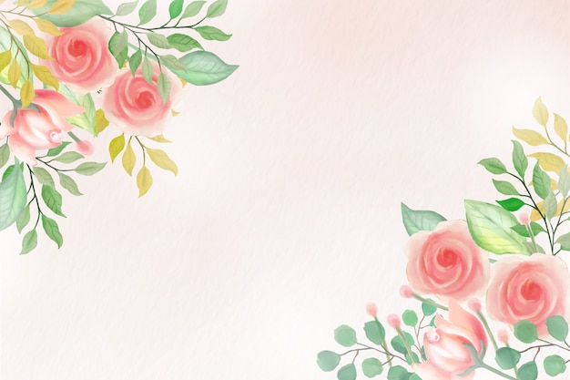 Fundo floral aquarela com cores suaves