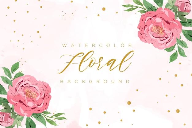 Fundo floral aquarela lindo