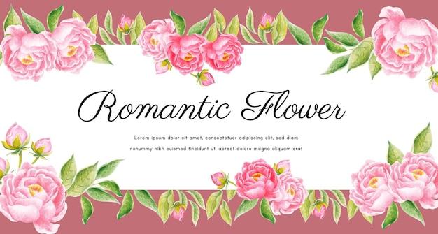 Fundo floral aquarela para cartão, banner, calendário, papel de parede, histórias.