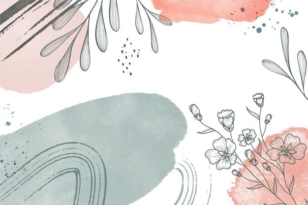 Fundo floral aquarela pintado à mão
