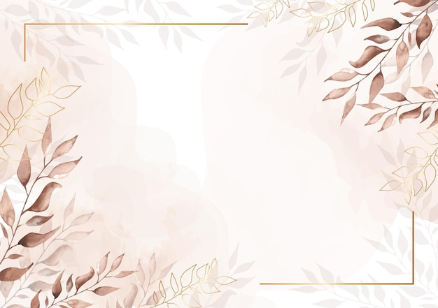 Fundo floral aquarela vintage