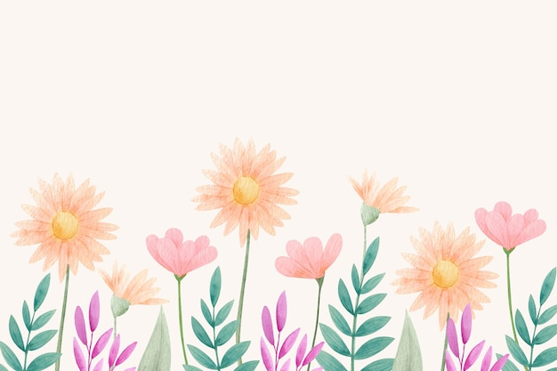 Fundo floral aquarela