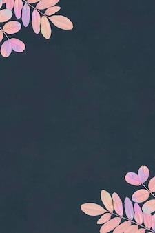 Fundo floral azul em branco